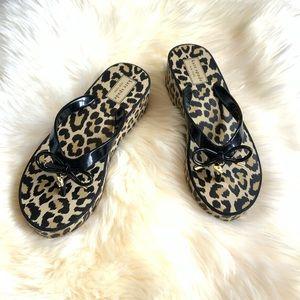 New! KATE SPADE Leopard Print Platform Sandals
